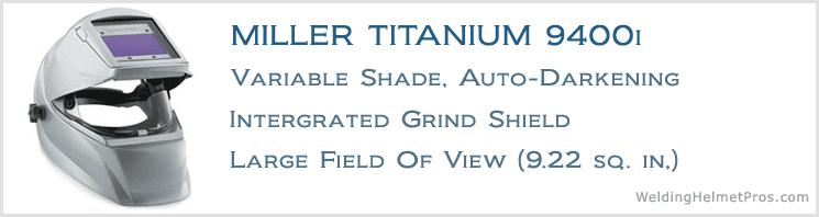 miller titanium 9400i welding helmet