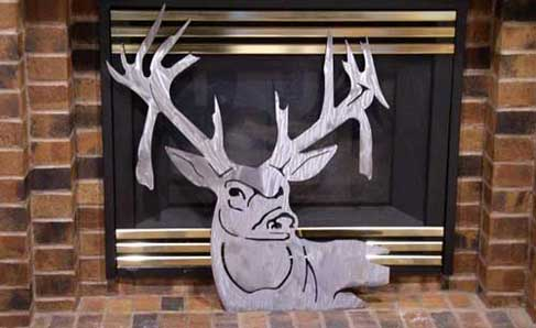 metal art deer
