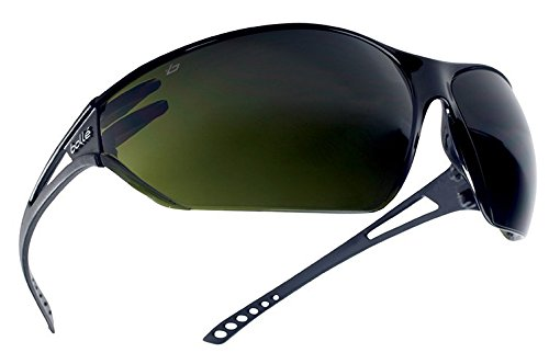 b7df7bf647 Bollé Safety 253-SL-40084 Slam Safety Eyewear with Matte Black Rimless  Frame and Welding Shade 5 Anti-Scratch Lens