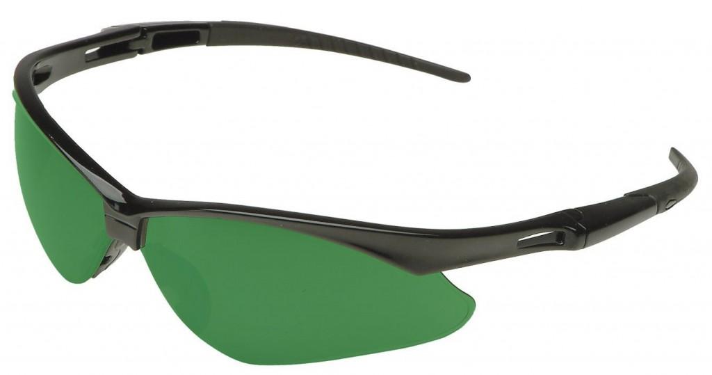 8a51c0bd6d Jackson Safety 3004761 Nemesis Cutting Safety Glasses Black Frame   IRUV  5.0 Shade Green Lens (19860)