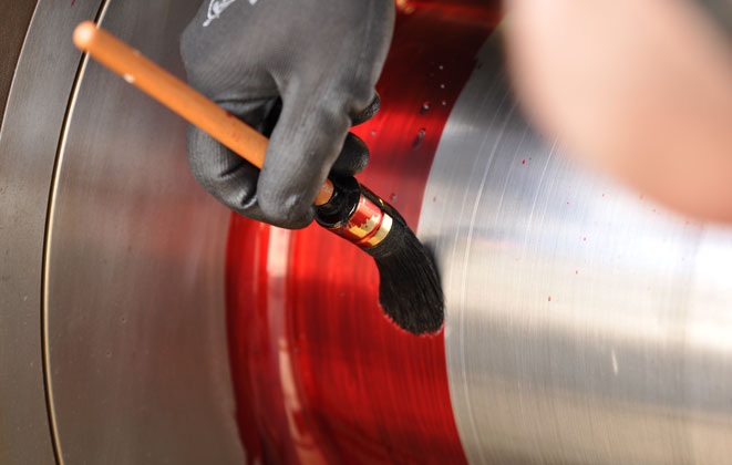 Pipe Weld Liquid Dye Penetrant Inspection